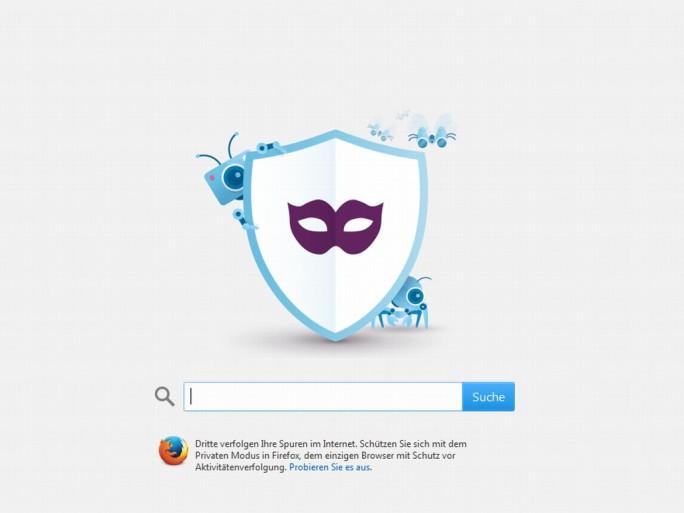 Firefox 24 mit Privatsphäre-Modus (Screenshot: ITespresso)
