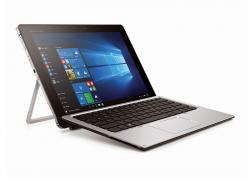 Das Windows-10-Hybridgerät HP Elite X2 kombiniert ein dünnes Tablet samt integriertem Aufsteller mit einer magnetischen Tastatur (Bild: Hewlett-Packard).
