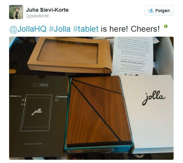 Im Oktober veröffentlichten Jolla-Mitarbeiter bei Twitter bereits erste Bilder des Jolla-Tablets (SAcreenshot: ITespresso).