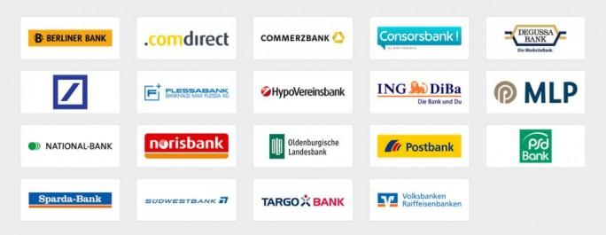 Überblick über alle bei Paydirekt teilnehmenden Banken (Screenshot: ITespresso)
