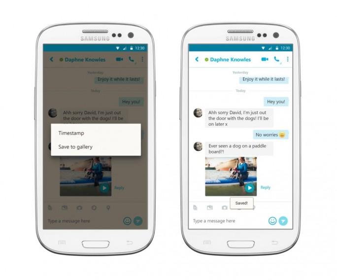 Microsoft hat Skype für Android um eine Funktion zum Speicher von Videonachrichten erweitert (Bild: Microsoft).
