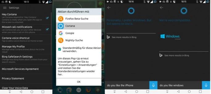 Cortana-Android (Bild: ZDNet.de)