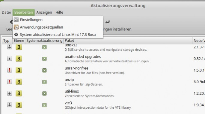 Linux Mint Update (Screenshot: ITespresso.de)