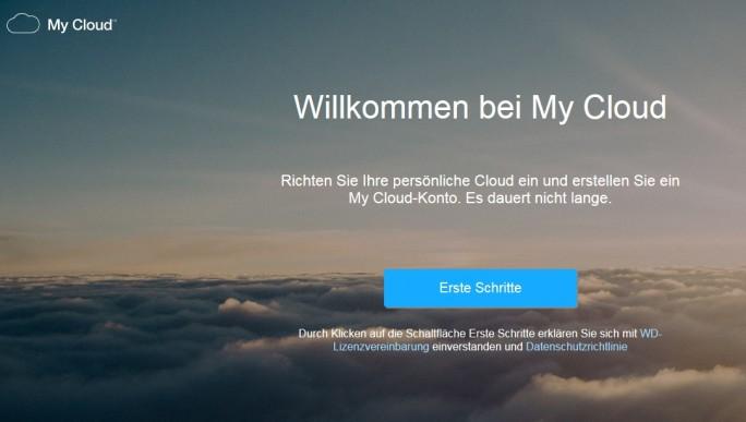 Das Benutzerkonto für My Cloud wird über den Webbrowser eingerichtet. (Screenshot: Mehmet Toprak)