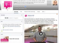 Kurz vor 17 Uhr hat die Telekom via Facebook mitgeteilt, dass die Ursache für die heute aufgetretene Störung behoben ist (Screenshot: ITespresso).