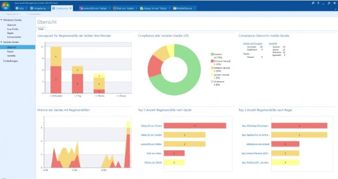 baramundi-compliance-management (Screenshot: ITespresso via Baramundi)