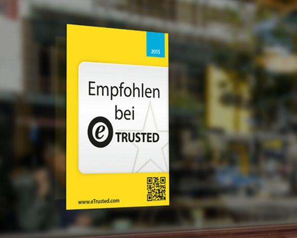 eTrusted Aufkleber am ladeneingang (Bild: Trusted Shops)