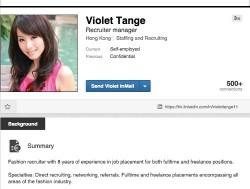 Eines der von Symantec bei LinkedIn entdeckten Fake-Profile (Screenshot: Symantec),