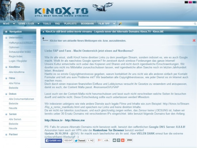 kinox_to (Screenshot: ZDNet.de)