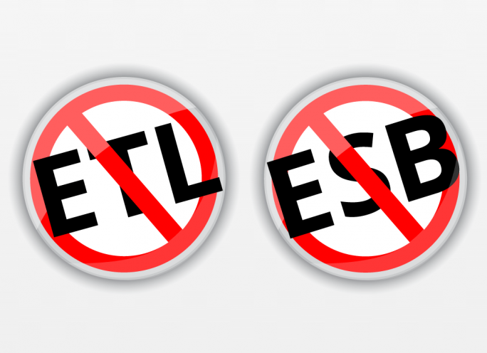 Mit einer einfachen Botschaft will SnapLogic alle IT-Verantwortlichen, die von ETL (Extract, Transfoorm,  Load) und ESB (Enterprise Service Bus) genervt sidn für seinen Ansatz interessieren (Grafik: SnapLogic).