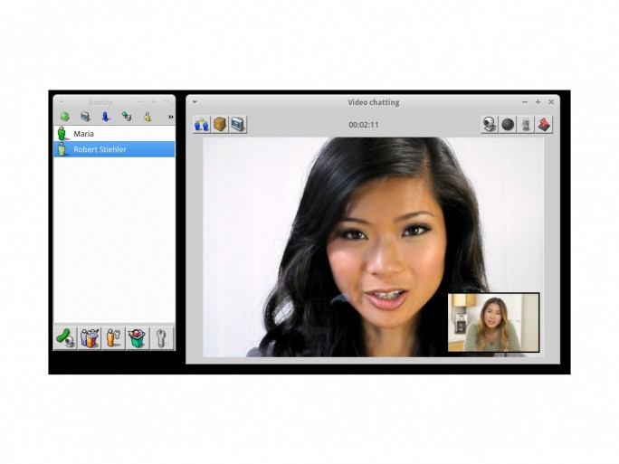 Voptop Videochat (Screenshot: Robert Stiehler)