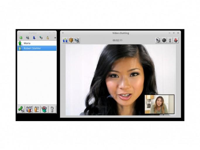 Voptop Videochat (Screenshot: Robert Stiehler)