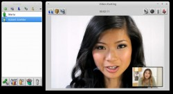Videochat in der Beta von Voptop (Screenshot: Robert Stiehler).