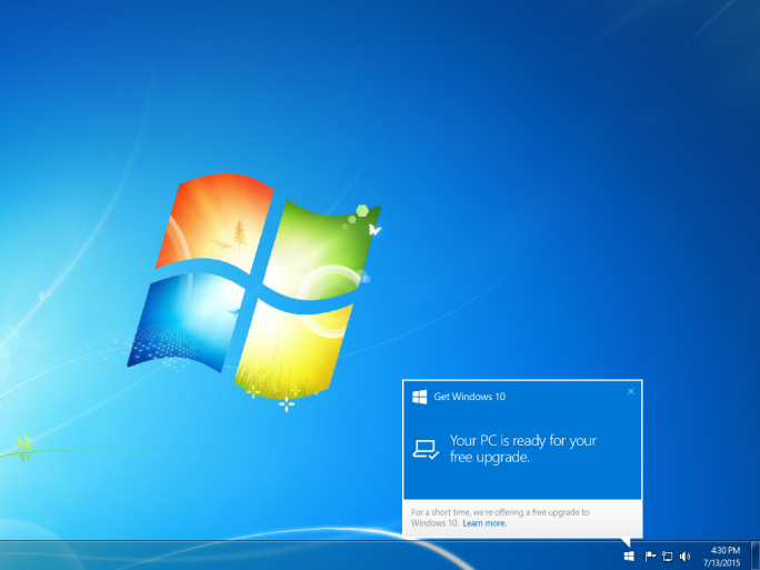 Windows 10 Benachrichtigung (Screenshot: ZDNet.de)