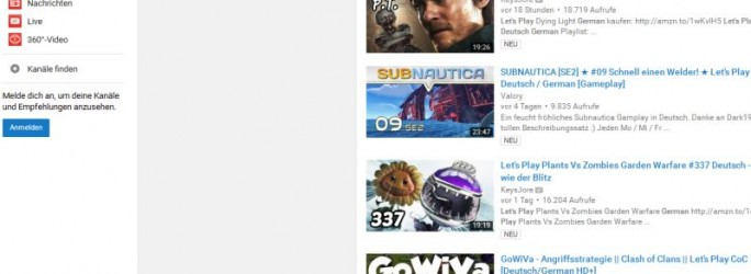 Let´s Play Videos bei Youtube (Screenshot: ITespresso)