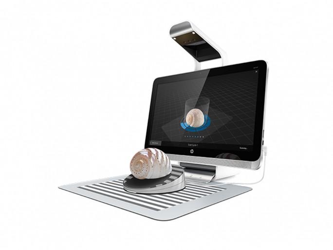 Erfassung eines 3D-Objekts mit dem Sprout Pro by HP (Bild: HP Inc.)