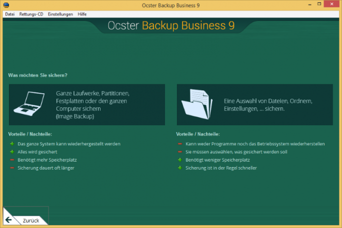 ocster_backup_business9_backuptype_de (Screenshot: Ocster)