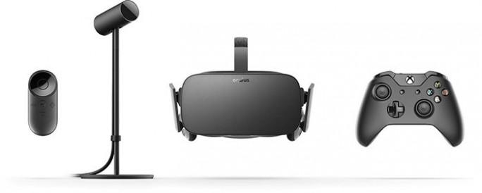 Bei Oculus Rift gehören ein Xbox-Controller, eine Fernbedienung und eine Kamera zum Lieferumfang (Bild: Oculus VR).