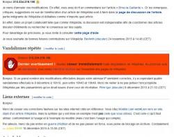 Wikipedia sperrt IP-Adresse des französischen Innenministeriums (Screenshot: ITespresso).