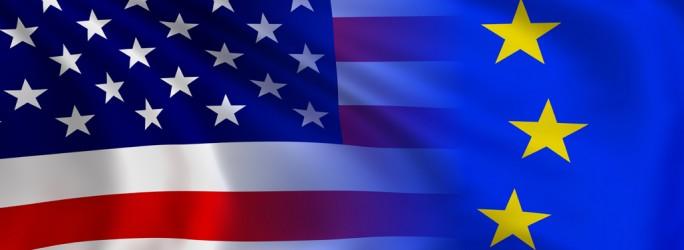 Flaggen-EU-USA (Bild: Shutterstock/meshmerize)