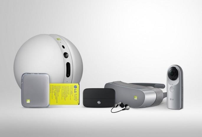 """Die Zubehörreihe """"LG Friends"""" im Überblick (Bild: LG Electronics)"""