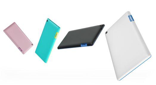 Das Lenovo Tab3 7 kommt ab Mai zu Preisen zwischen 89 (nur WLAN) und 149 (LTE und mehr Speicher) auf den Markt (Bild: Lenovo).