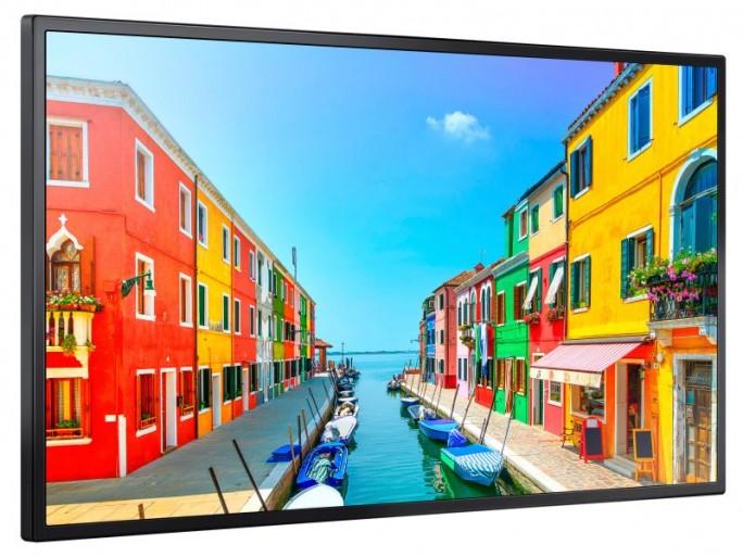 Das Samsung OM24E ist für den Einsatz im Schaufenster konzipiert und dafür mit einem  lediglich 10,3 Millimeter breitem Rahmen gerüstet (Bild: Samsung).