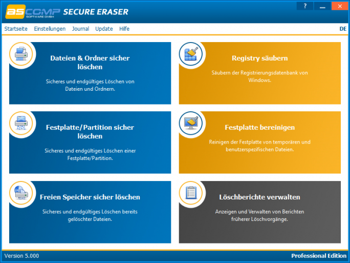 SecureEraser5 (Screenshot: Ascomp Software)