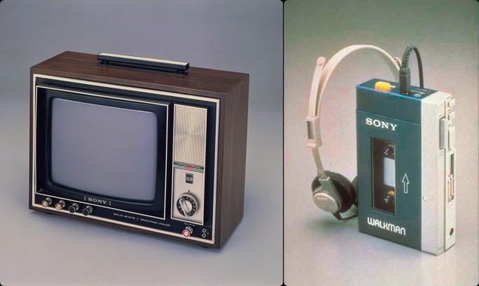 """Fernseher mit der """"Trinitron""""-Bildröhre und der Walkman halfen, den legendären Ruf des japanischen Hightech-Konzerns Sony zu begründen (Fotos: Sony)."""