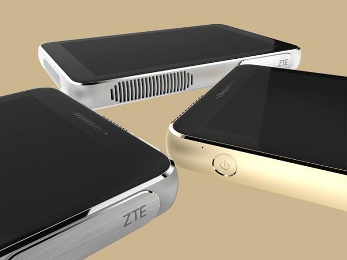 Die Oberseite des tragbaren Beamers ZTE Spro Plus wird ganz von einem 8,4 Zoll großen Touchscreen eingenommen (Bild: ZTE).