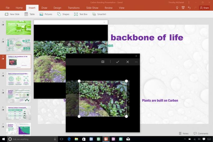 Auf Mobilgeräten mit Android oder Windows kann PowerPoint nun direkt auf die Kamera zugreifen (Bild: Microsoft).