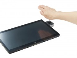 Die Handvenenerkennung beim Stylistic Q736 ermöglicht zur berührungslosen Authentifizierung (Bild: Fujitsu).