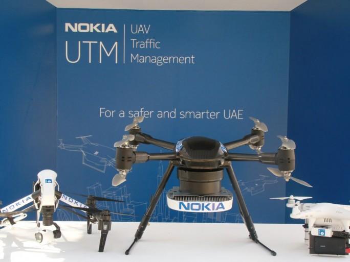 Auf einer Veranstaltung in Dubai hat Nokia jetzt sein Konzept zur Steuerung und Überwachung von Drohnen via LTE vorgestellt (Bild: Nokia)