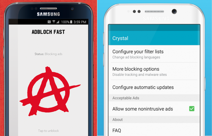 samsung-browser-adblocker (Bild: Adblock Fast/Crystal)