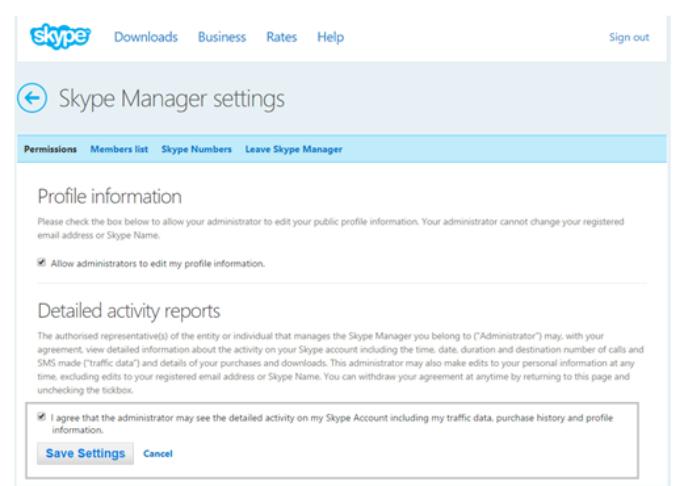 skype-manager-berechtigungen (Screenshot: Microsoft)