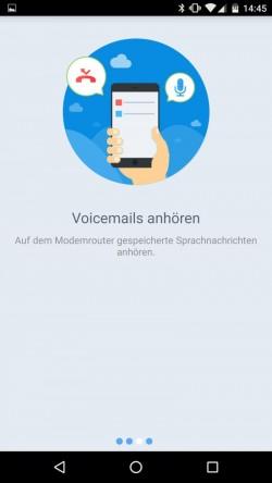 Abhören des Anrufbeantworters auf der tpPhone-App (Screenshot: TP-Link)