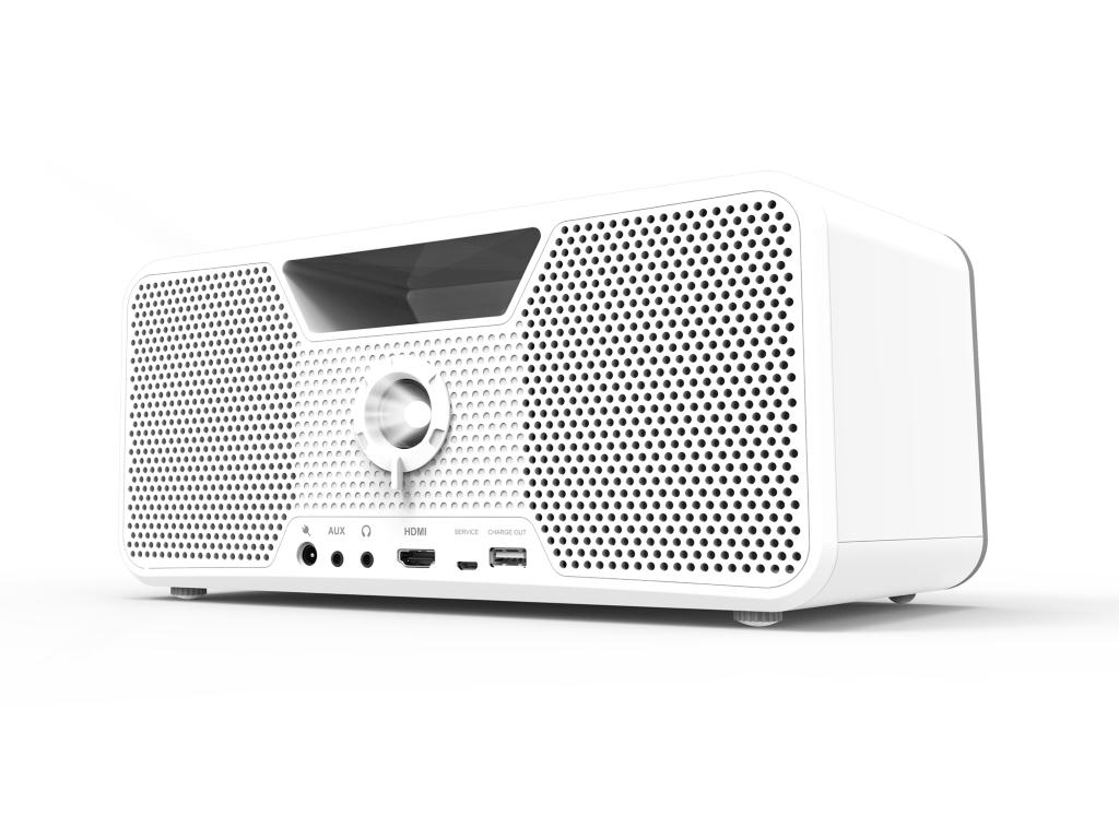 Aiptek zeigt Kombination aus tragbarem Beamer und Bluetooth-Lautsprecher