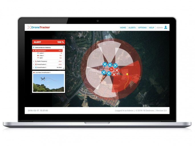 DroneTracker-Software (Bild: Dedrone)