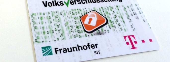 Registrierungskarte mit der 12-stelligen PIN für die Volksverschlüsselung (Bild: Fraunhofer SIT)