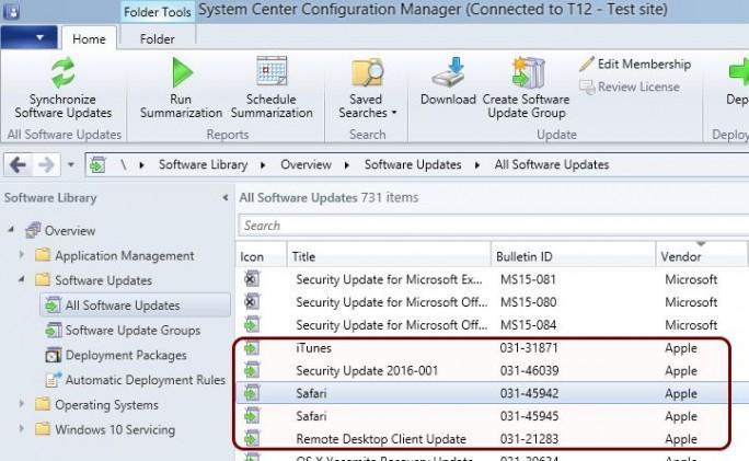Mit Version 4.5 von Parallels Mac Management für Microsoft SSCM  lässt sich nun auch dei patch-Verwaltung für Macs aus der Microsoft-Konsole heraus vornehmen (Bild: Parallels).