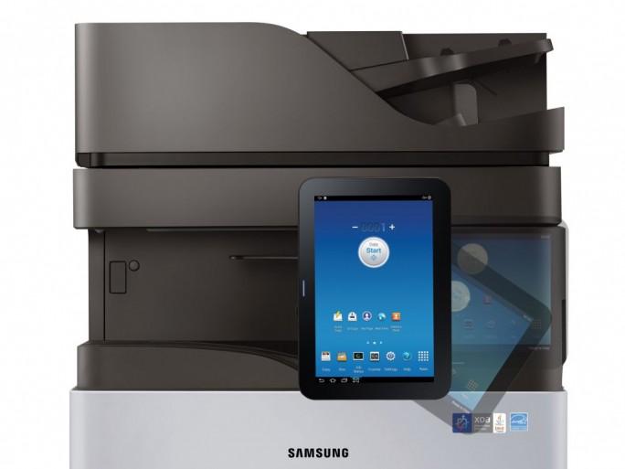 Smart UX Center an einem Samsung-Kopiersystem (Bild: Samsung)