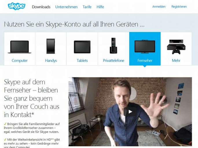 Skype App TV (Screenshot: ITespresso)