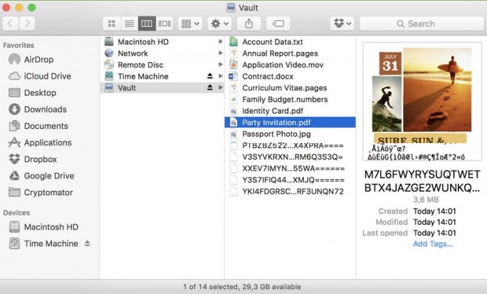 Cryptomator Vauldt (Screenshot: seto Labs)