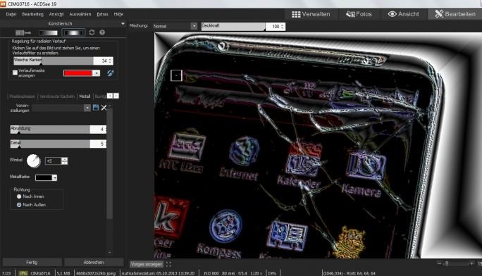 Bildbearbeitung in ACDSee: Die Intensität der Effekte lässt sich individuell anpassen. (Sceenshot: Mehmet Toprak)