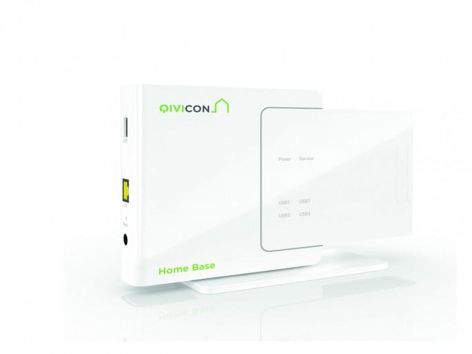 Bald wohl nicht mehr die einzige Möglichkeit, sein Smart Home auf Basis der Qivicon-Platztform zu steuern: die Qivicon Home Base (Bild: Deutsche Telekom).