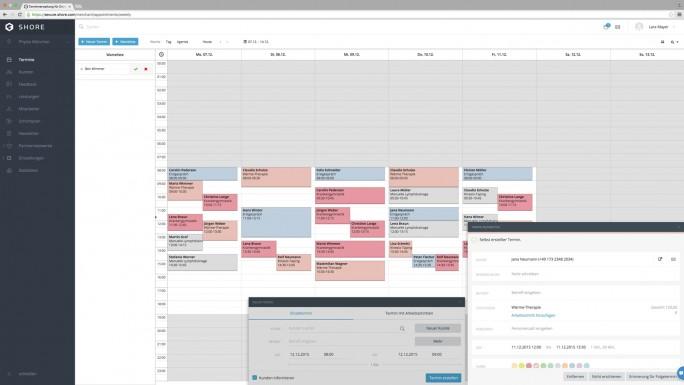 Der Terminkalender bietet eine Schnittstelle zu Microsofts Outlook. (Screenshot: Shore)