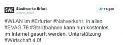 Stadtwerke-Erfurt-Twitter (Screenshot: silicon.de)
