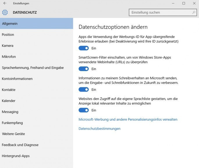 Windows-10-Datenschutz-Positionsverlauf (Screenshot: Thomas Joos)