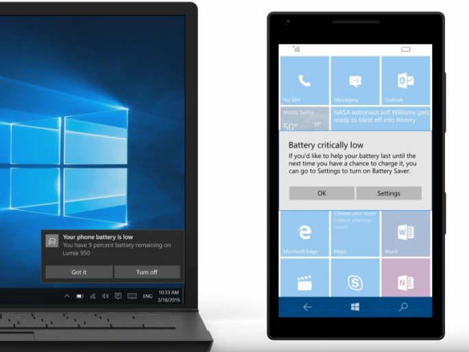 cortana-akkustand (Screenshot: ZDNet.de)