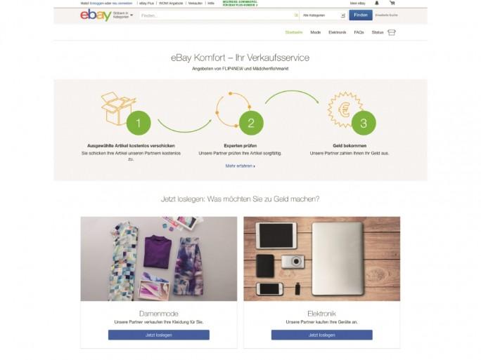 eBay_Komfort_Landingpage (Screenshot: Ebay)